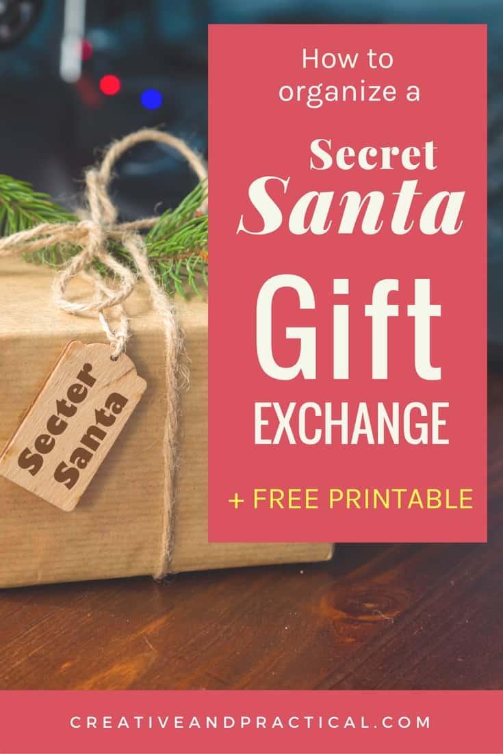 How to organize a Secret Santa Gift Exchange + Free Printable