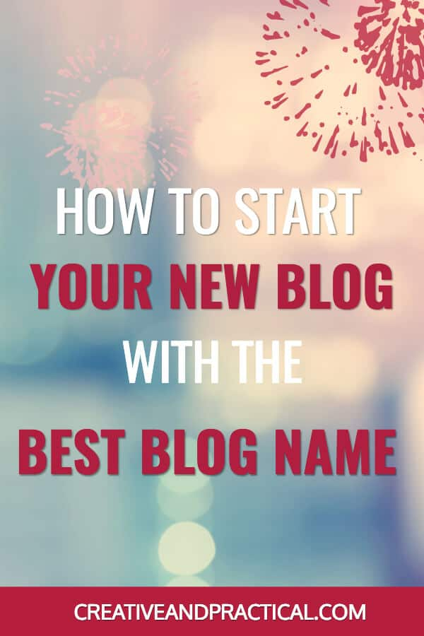 How to start your new blog with the best blog name