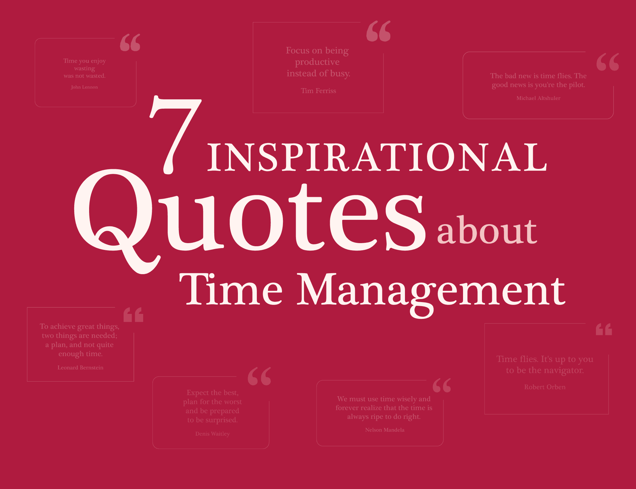 7 Inspiring Time Management Quotes Creative And Practical