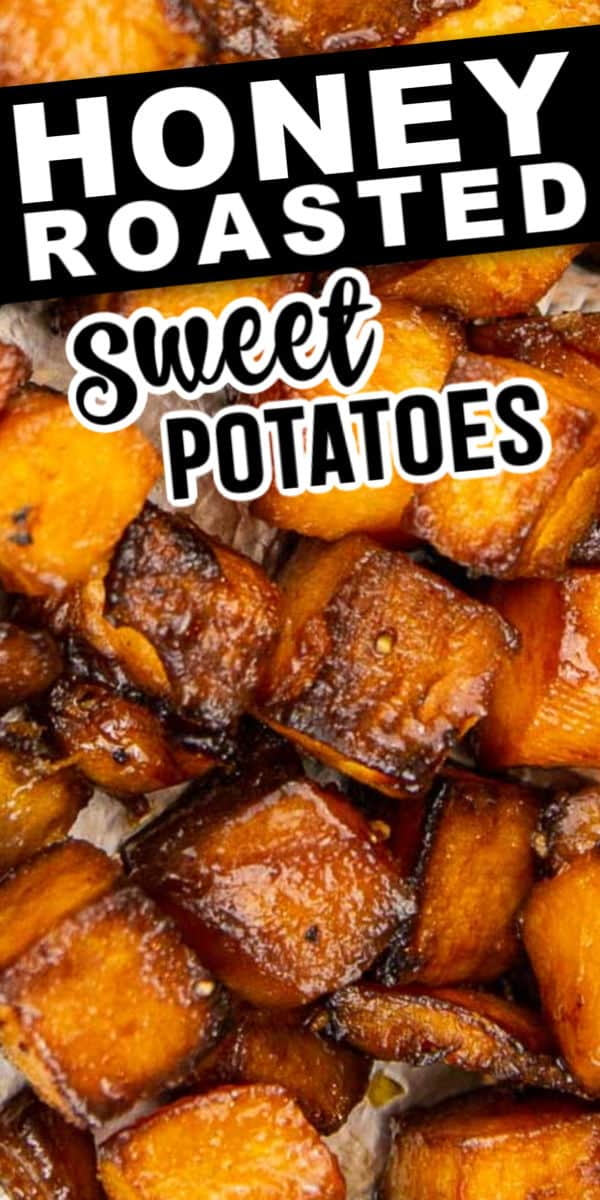 Easy and delicious honey roasted sweet potatoes