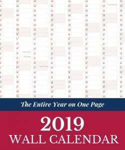 Free 2019 Printable Calendar - The Entire Year on one page. Learn how to print the 2019 calendar.