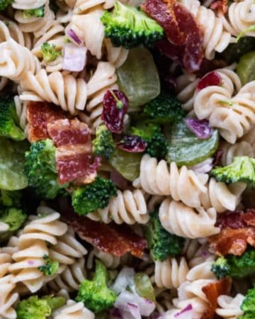 Broccoli Bacon and Pasta Salad