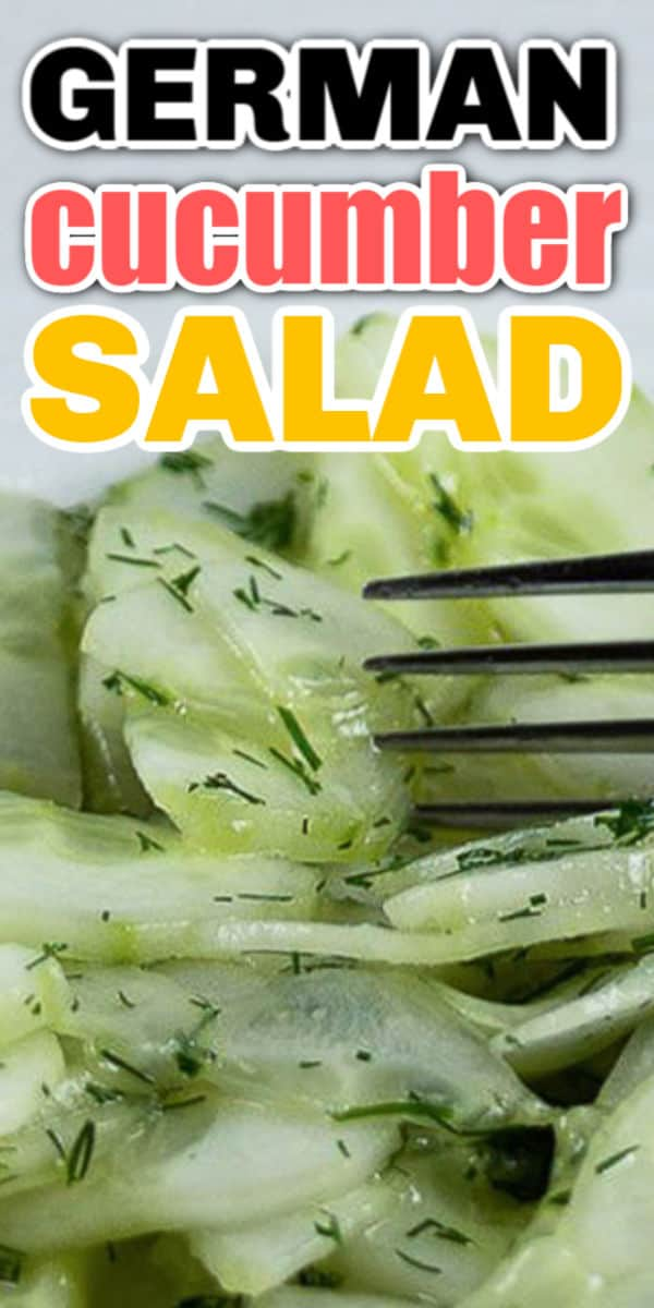 Easy German Cucumber Salad Recipe