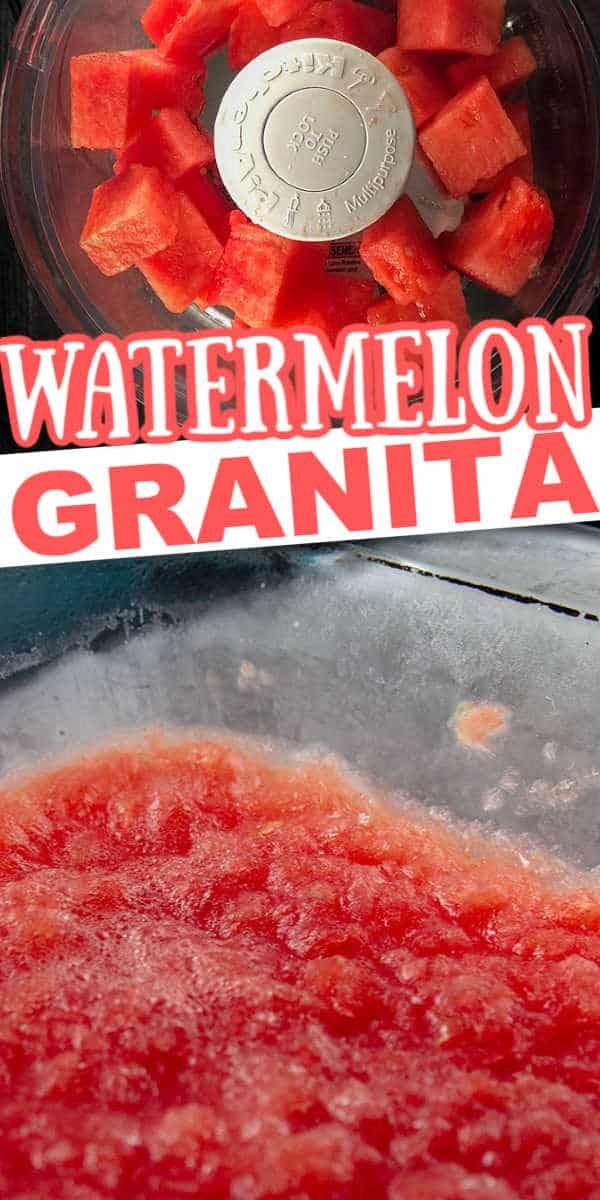 homemade watermelon granita