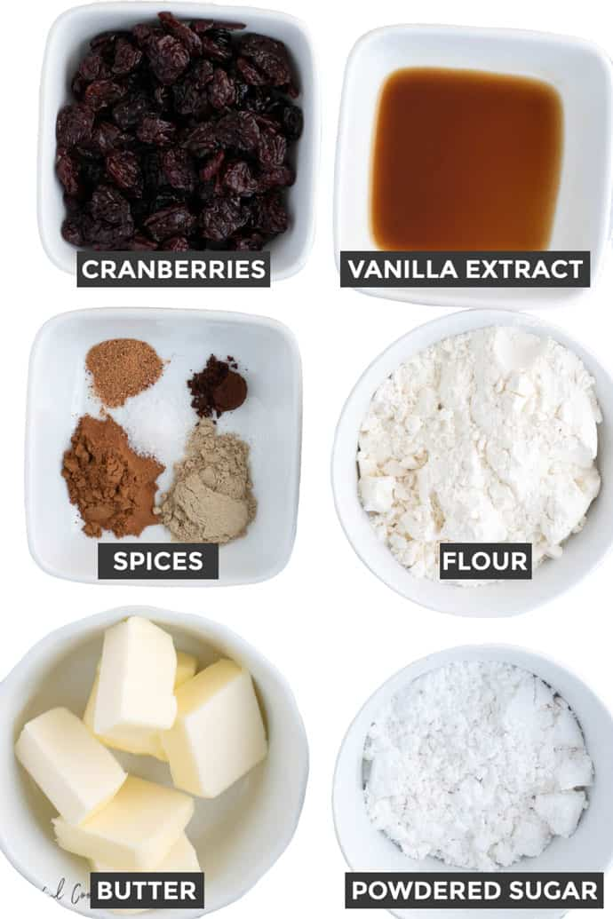 Ingredients needed to bake Chai Spiced Cookies