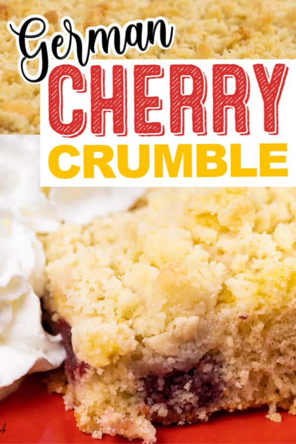 Kirschstreusel (German Cherry Crumble) Recipe