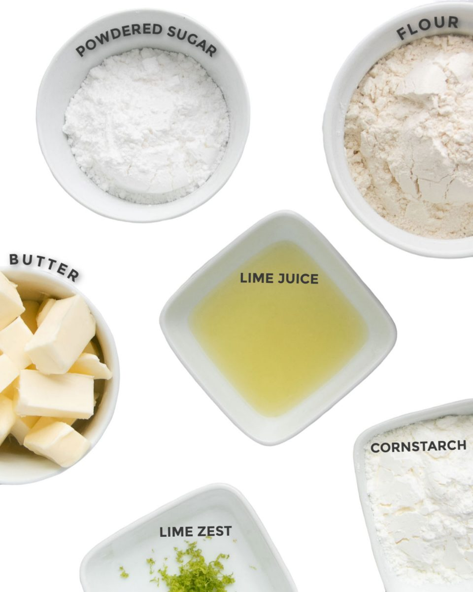Ingredients Needed To Make Key Lime Cookies