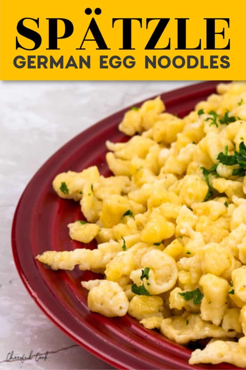 The best Spaetzle recipe (German Egg Noodles)