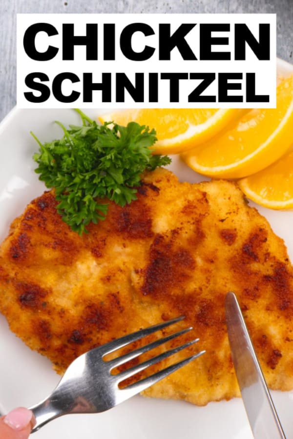 Classic Schnitzel - but with Chicken!