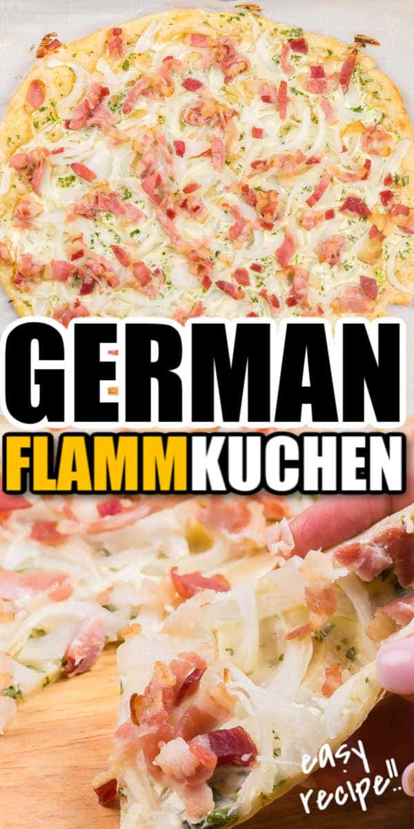 Easy German Pizza - Flammkuchen