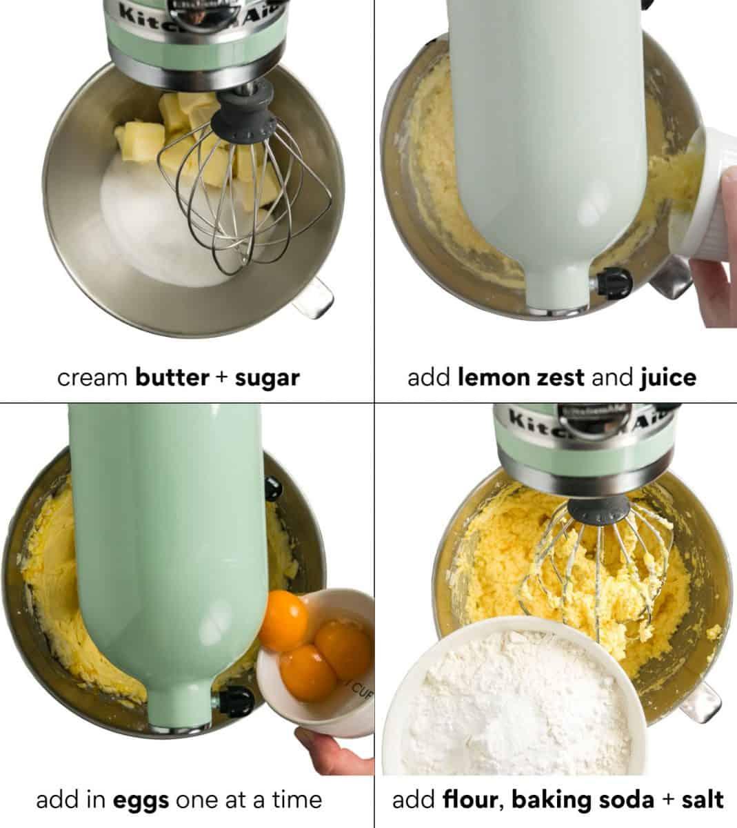 Making the batter for the German lemon pound cake (Zitronenkuchen)