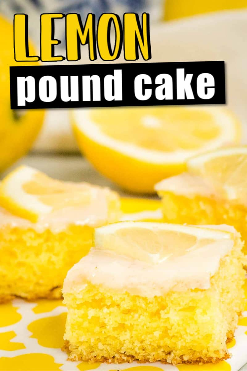 Homemade glazed German Lemon Pound Cake (Zitronenkuchen)