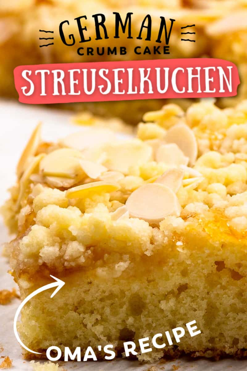 The easiest Streuselkuchen recipe (German Crumb Cake)