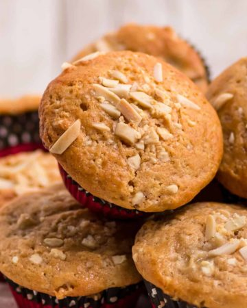 A plate of freshly baked Banana Bread Muffins