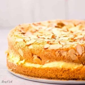 Freshly baked German Bee Sting Cake (Bienenstich)