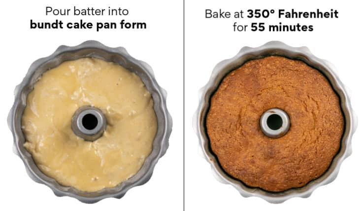 Step-by-step instructions how to make the bundt cake batter