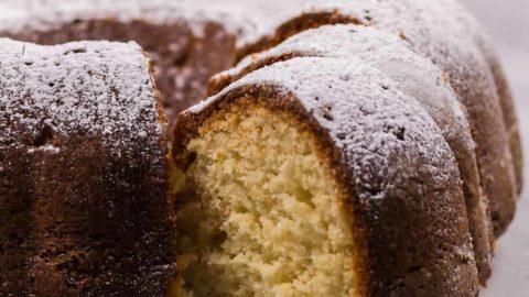Freshly baked German bundt cake