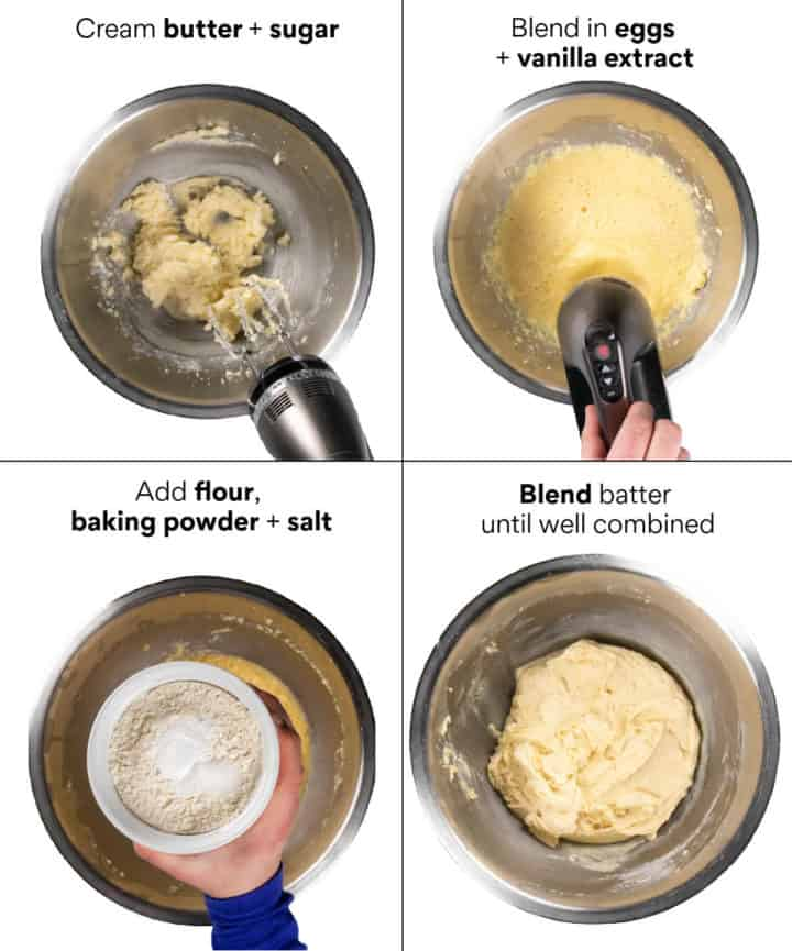 Instructions how to make the base cake for the Streuselkuchen.