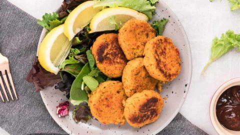 a plate of freshly cooked tuna croquettes