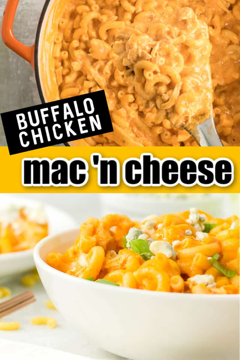 Homemade Buffalo Chicken Mac and Cheese