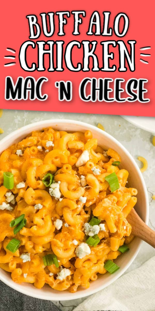 Creamy spicy Mac and Cheese with Buffalo Chicken