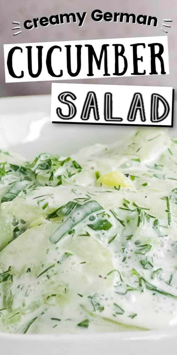 Creamy Cucumber Salad