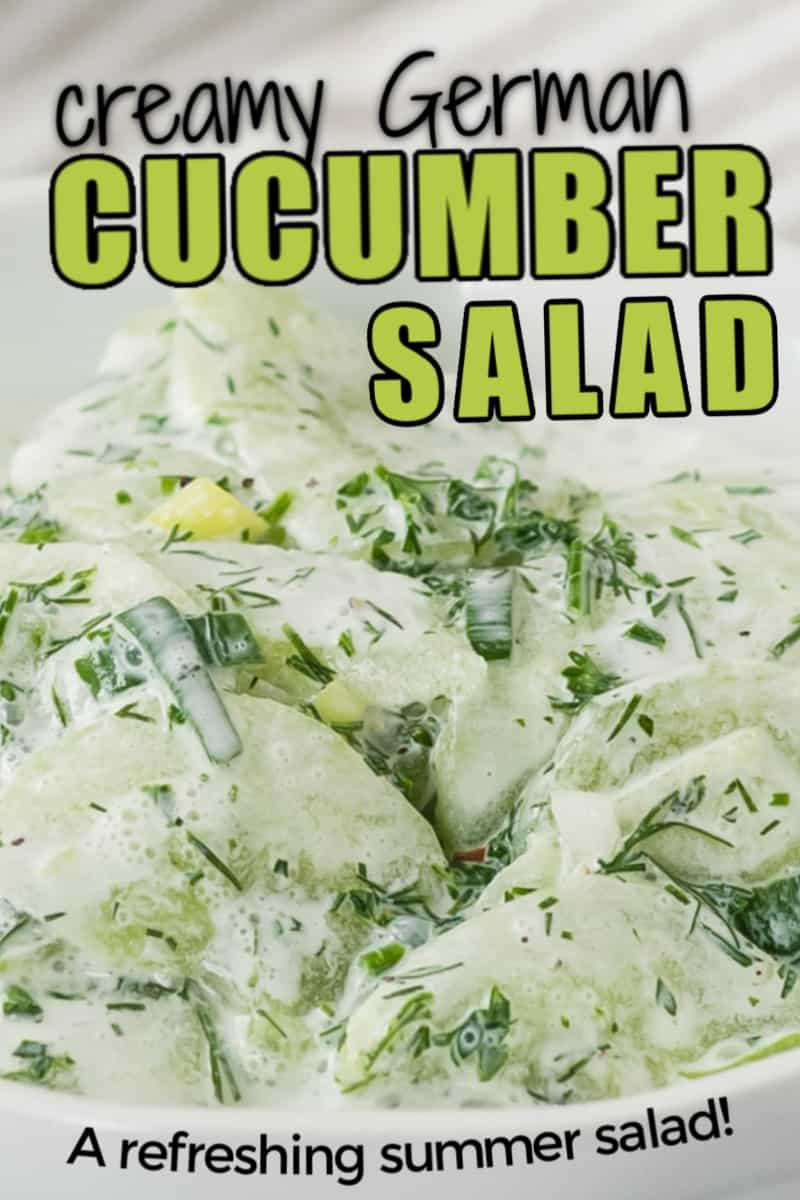 The best creamy Cucumber Salad recipe (from Germany!)