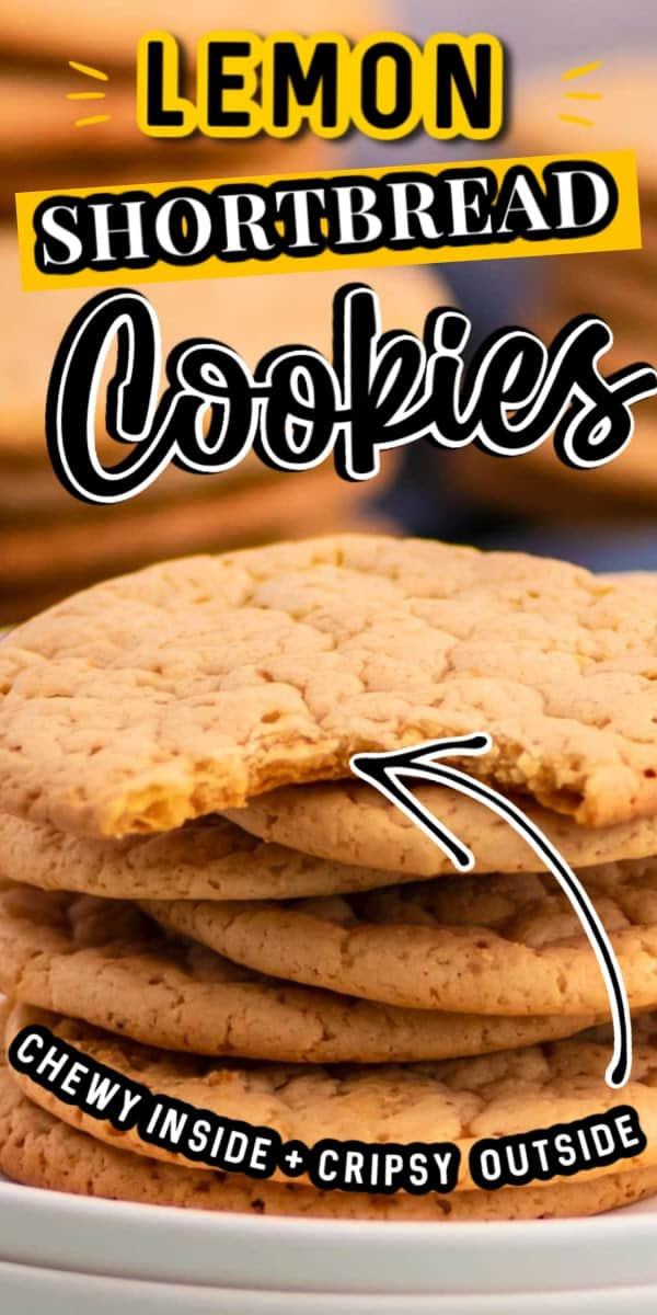 the best and easiest lemon shortbread cookies