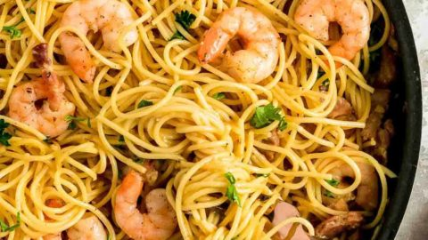 Easy homemade Shrimp Carbonara Recipe