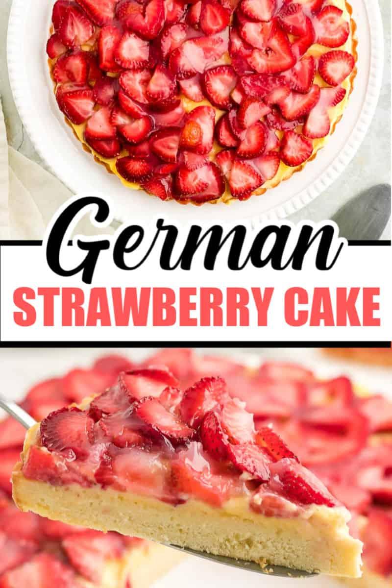 Delicious German strawberry cake recipe