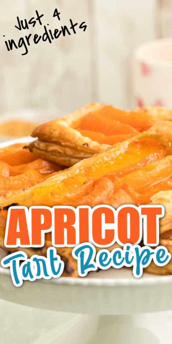 simple 4 ingredient apricot tart recipe
