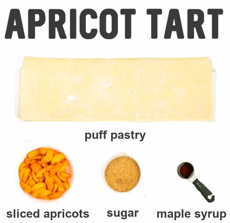 Ingredients need to make the world's easiest Apricot Tarts.