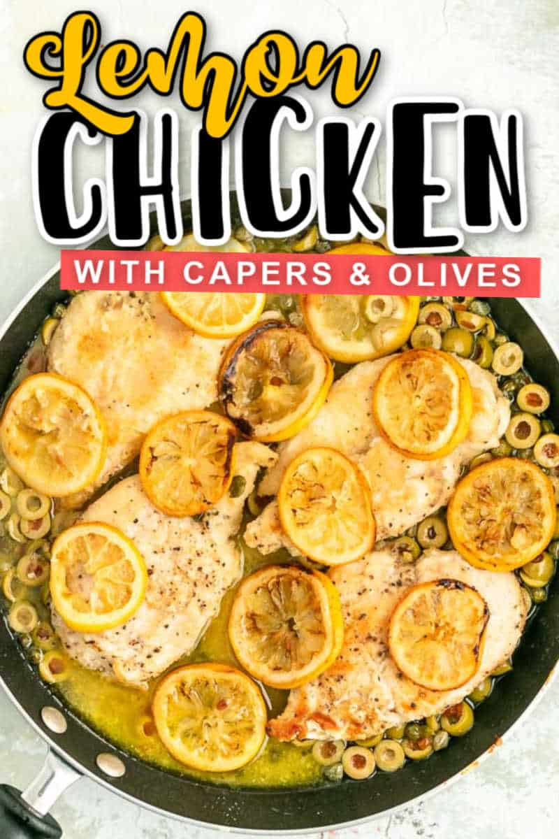 Easy Lemon Chicken with Capers and Olives