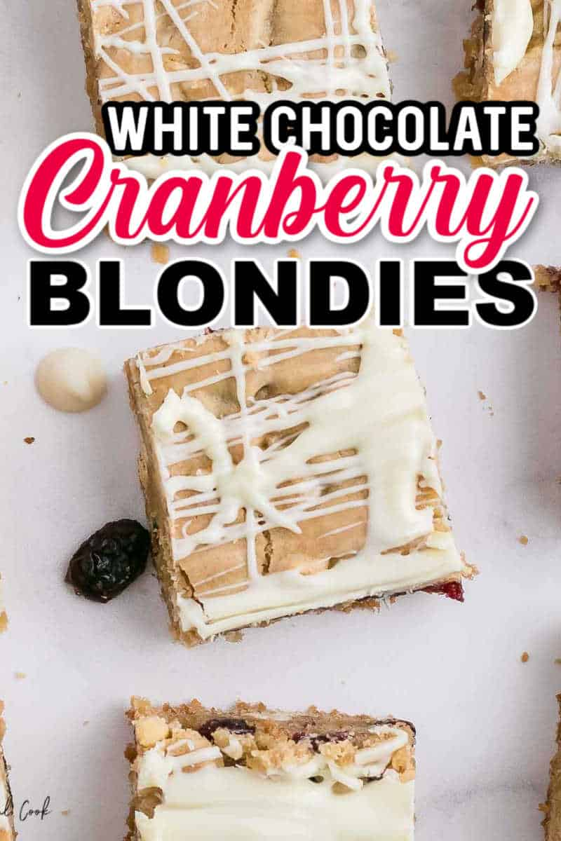 White Chocolate and Cranberry Blondies