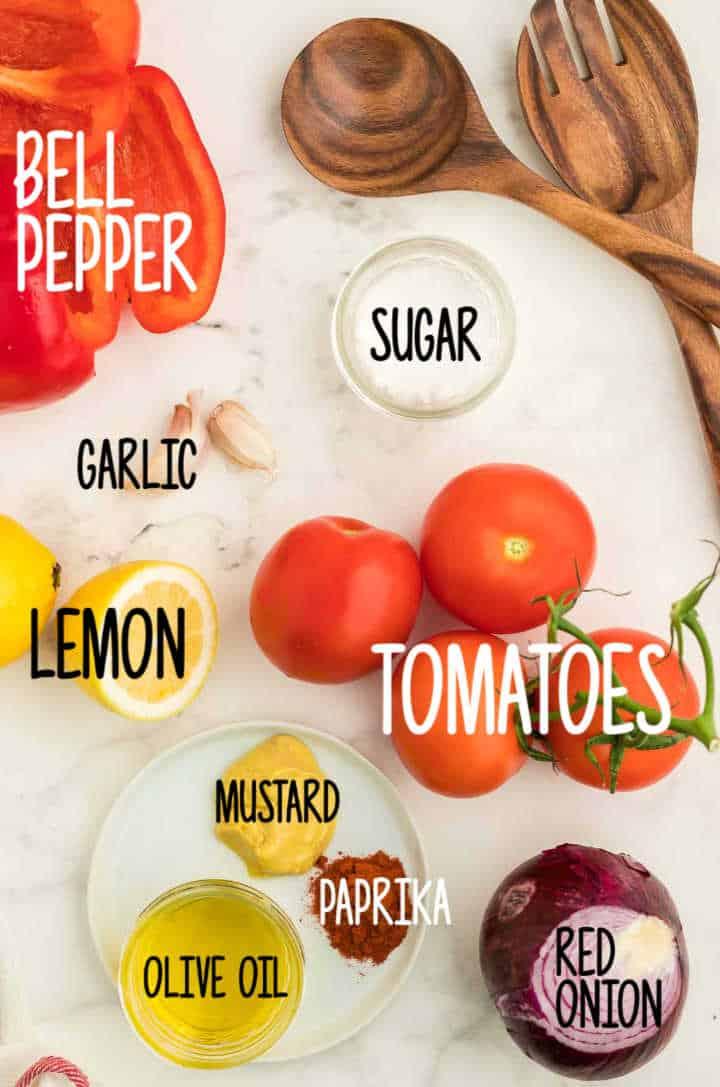 Ingredients needed to make Tomato Salad