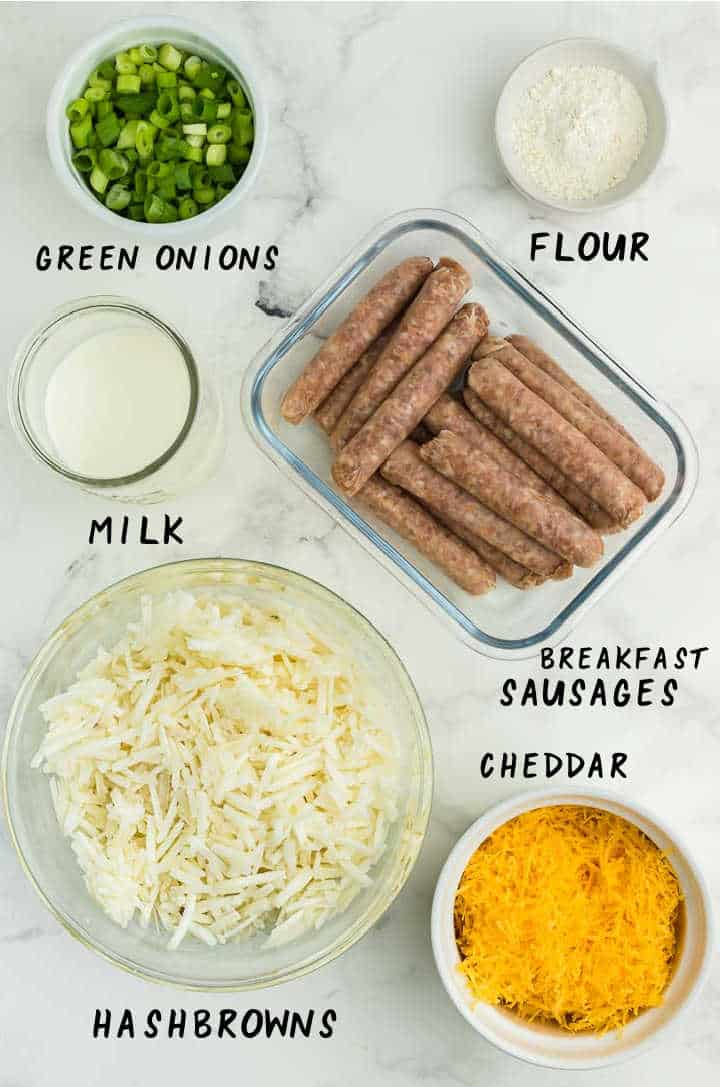 Ingredients needed to make Hashbrown Breakfast Casserole