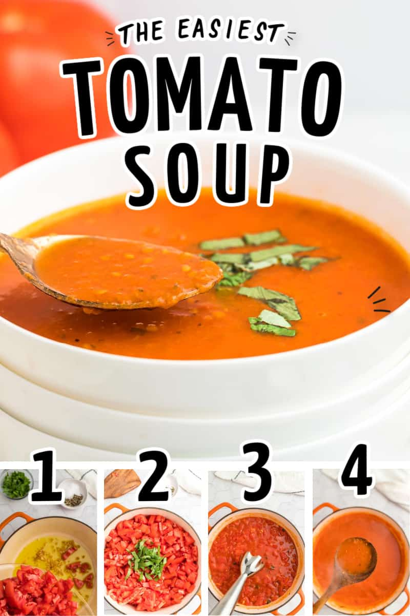 Easy Tomato Soup with Step-by-step instructions.
