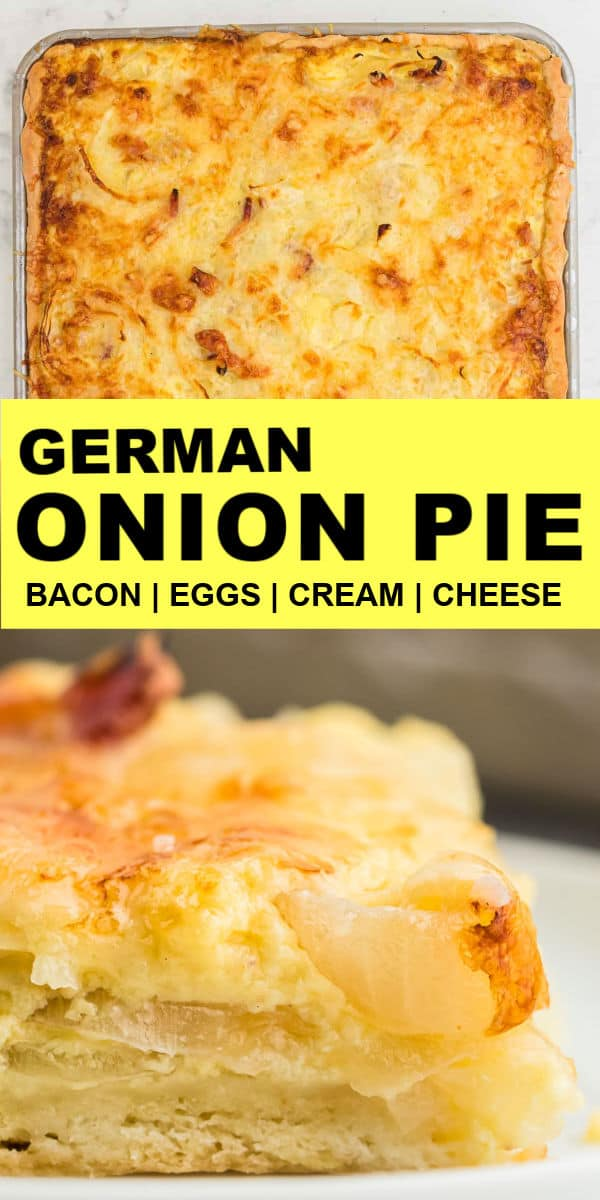 The Best Onion Pie - Easy Cheesy