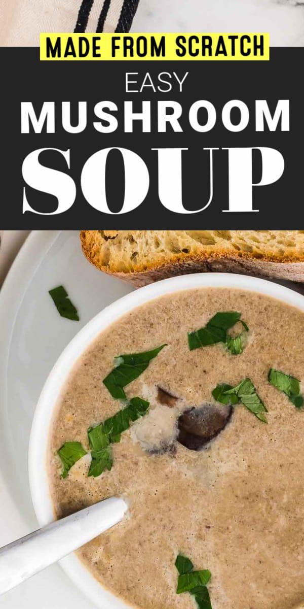 Made From Scratch Mushroom Soup Recipe