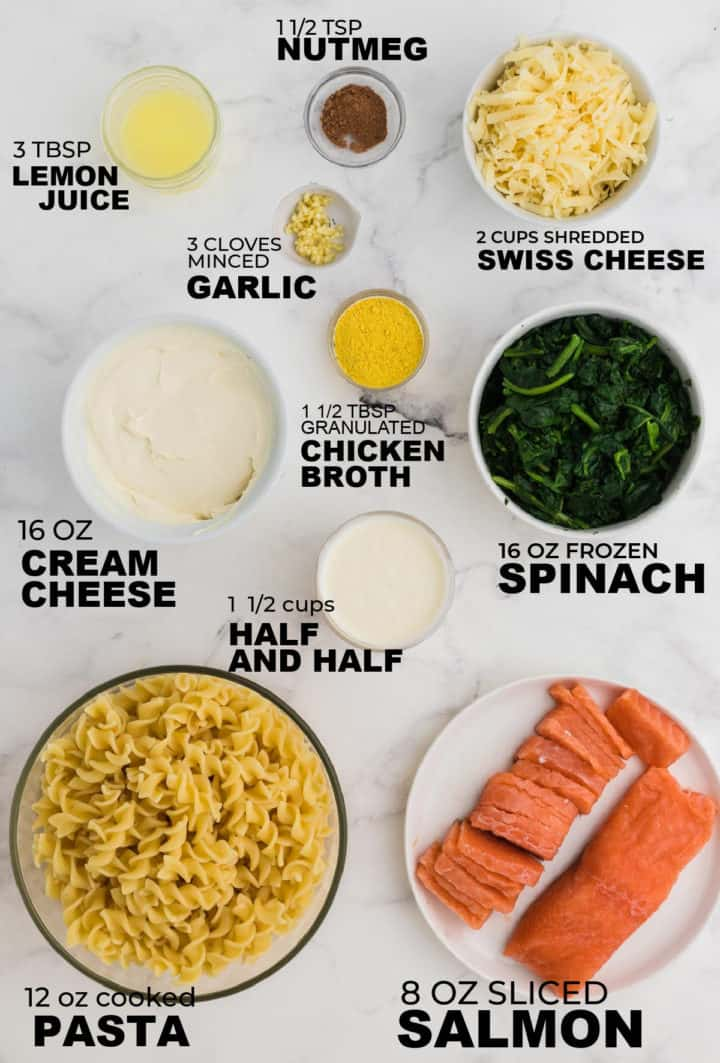 ingredients needed to make salmon casserole