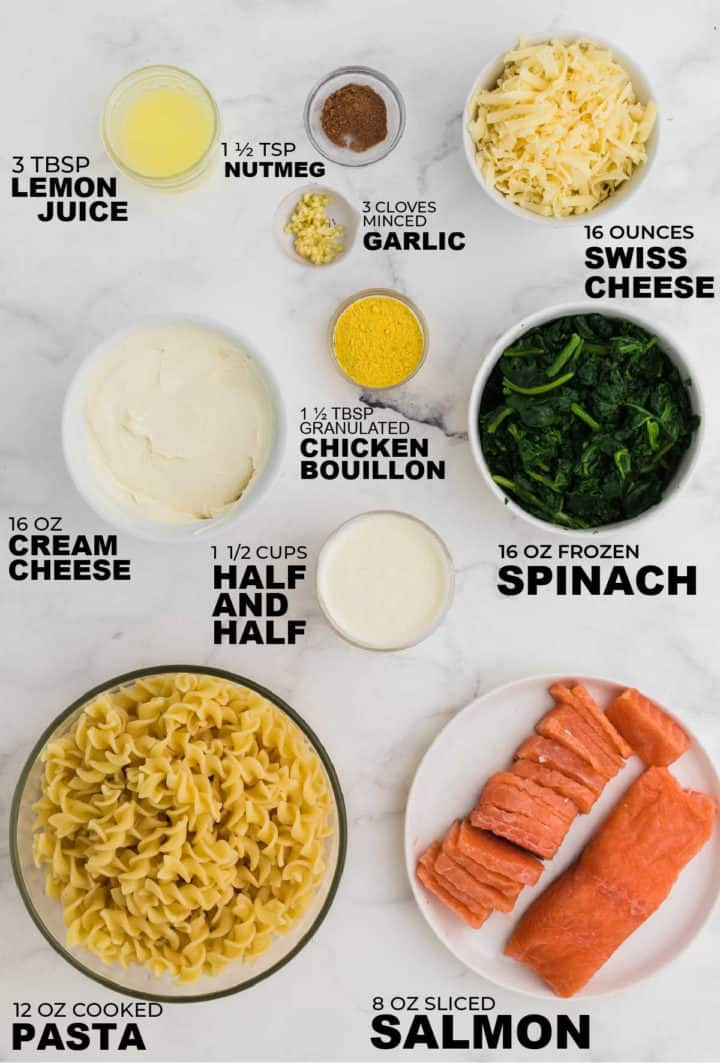 ingredients needed to make a salmon casserole