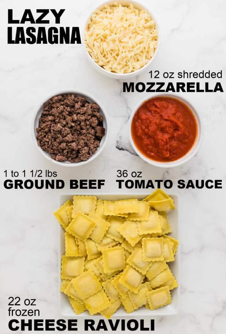 ingredients needed to make Lazy Lasagna