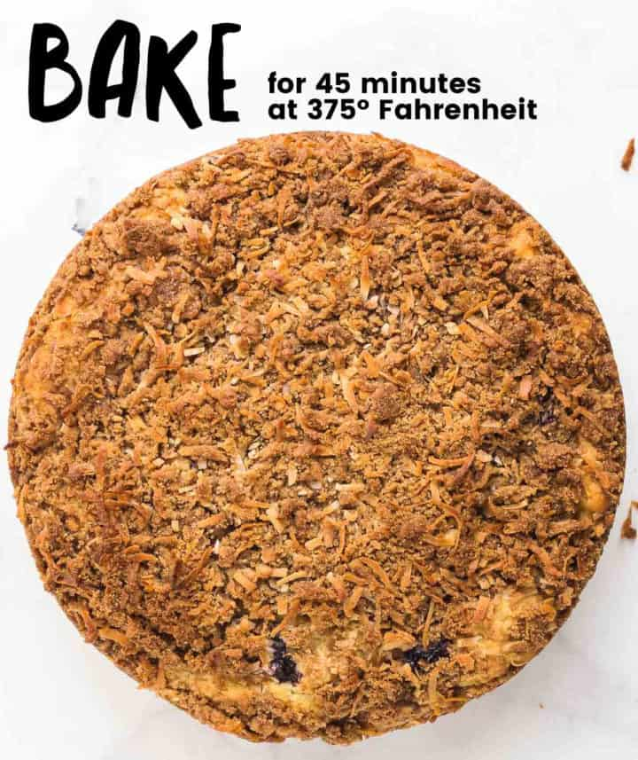 Process Step: Bake Cake at 375º Fahrenheit for 45 minute