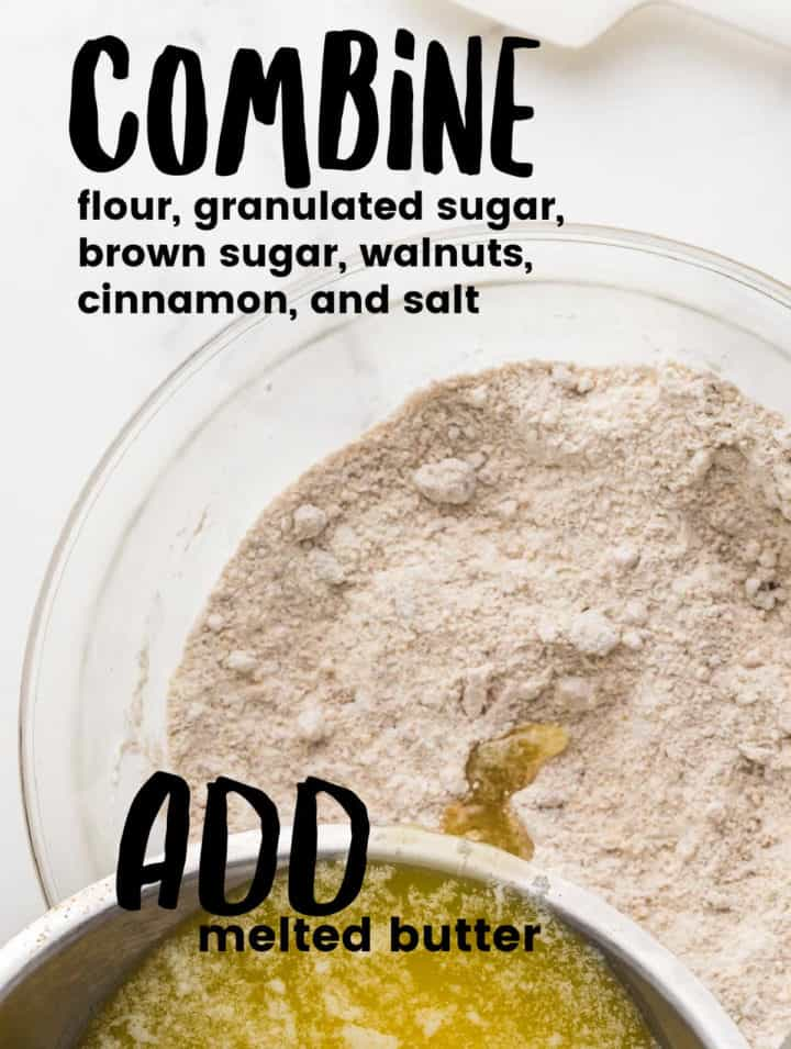 Step: Combine wet and dry ingredients in a large bowl