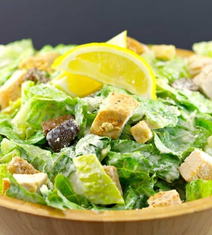 Grilled Chicken Caesar Salad | https://foodmeanderings.com/