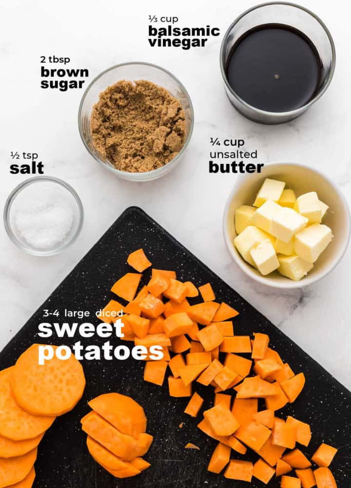 ingredients needed to make candied sweet potatoes