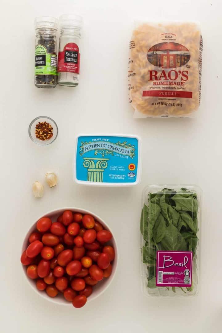 ingredients needed to make baked feta pasta