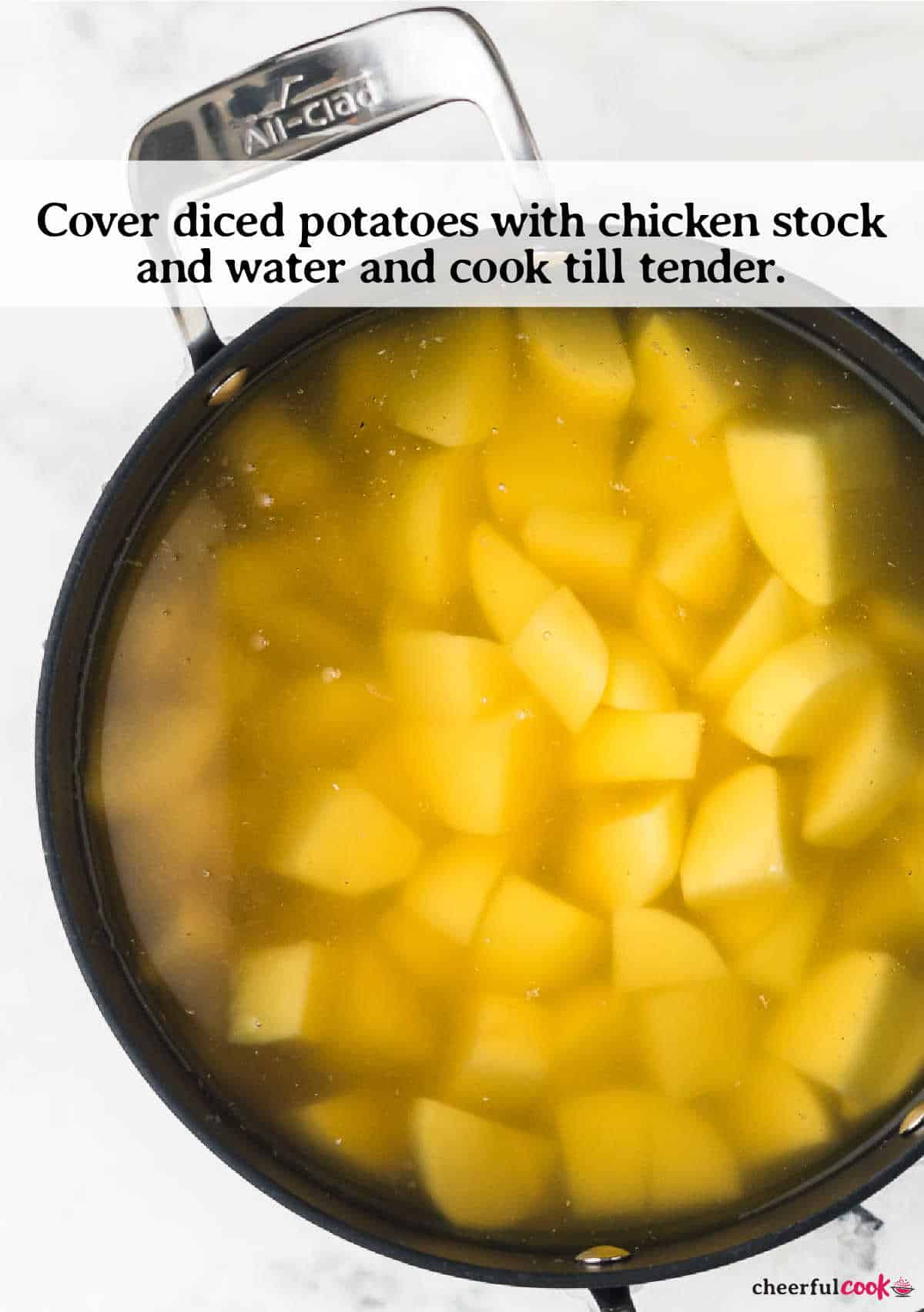 potatoes in large pot before boiling