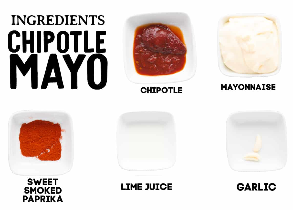 ingredients needed to make Chipotle dip