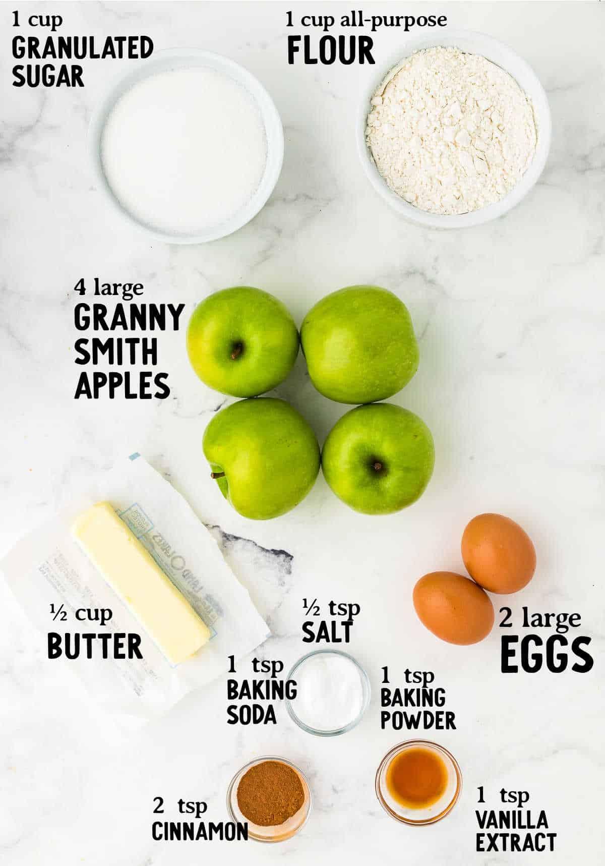 ingredient checklist to make Apple Cake